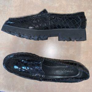 Donald J Pliner snakeskin loafers